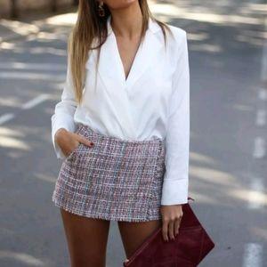 Zara tweed shorts